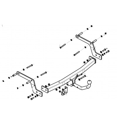 Фаркоп на Renault Sandero 1432A