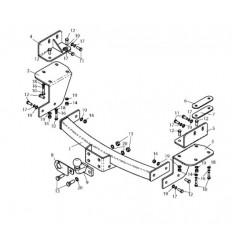 Фаркоп на Chevrolet Trailblazer C216-FC