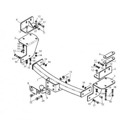 Фаркоп на Chevrolet Trailblazer C216-F