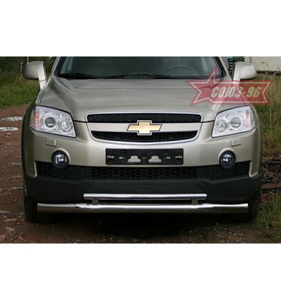 Защита переднего бампера на Chevrolet Captiva CCAP.48.0485