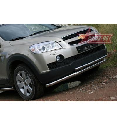 Защита переднего бампера на Chevrolet Captiva CCAP.48.0486