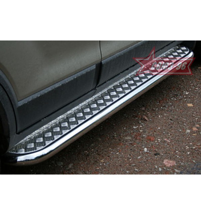 Пороги с листом на Chevrolet Captiva CCAP.82.0492