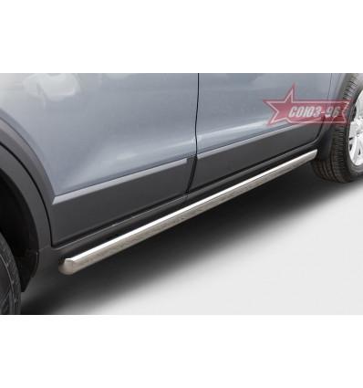 Пороги труба овалные на Chevrolet Captiva CCAP.80.5054