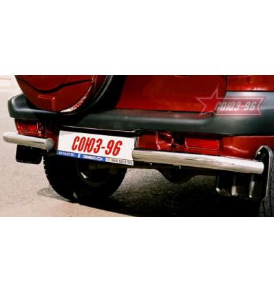 """Защита задняя """"уголки"""" на Chevrolet Niva CN03.76.0006"""