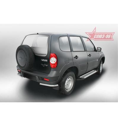 """Защита задняя """"уголки"""" на Chevrolet Niva CN14.76.5147"""