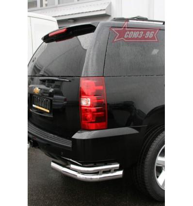 """Защита заднего бампера """"уголки"""" на Chevrolet Tahoe CHTH.76.0710"""