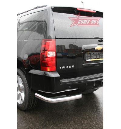 """Защита заднего бампера """"уголки"""" на Chevrolet Tahoe CHTH.76.0711"""