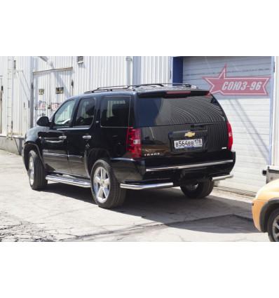 """Защита заднего бампера """"уголки"""" на Chevrolet Tahoe CHTH.76.1415"""