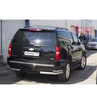 """Защита заднего бампера """"уголки"""" на Chevrolet Tahoe CHTH.76.1416"""