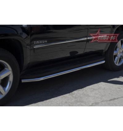 Защита штатного порога на Chevrolet Tahoe CHTH.86.1414