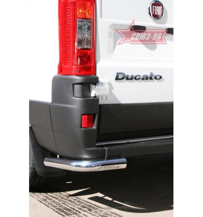 """Защита задняя """"уголки"""" на Fiat Ducato FIDU.76.1055"""