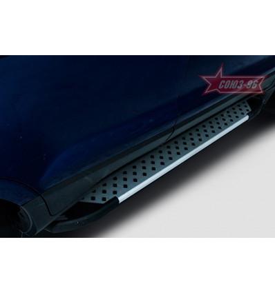 Пороги алюминиевый профиль на Ford EcoSport FECO.83.5150