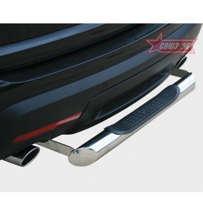 """Защита заднего бампера """"ступень""""  на Ford Explorer FEXP.77.1309"""