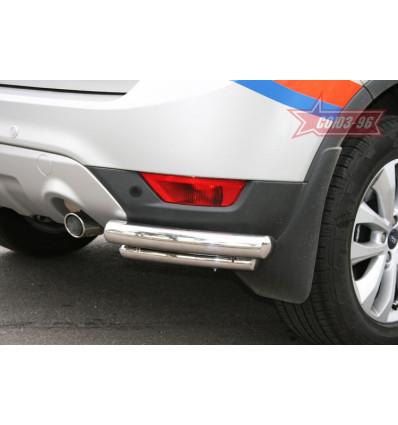 """Защита задняя """"уголки"""" на Ford Kuga FKUG.76.1377"""