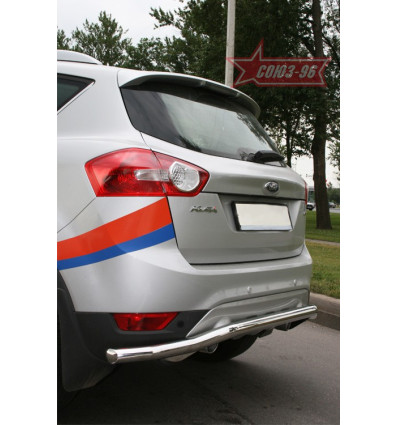 """Защита задняя """"волна"""" на Ford Kuga FKUG.75.1375"""