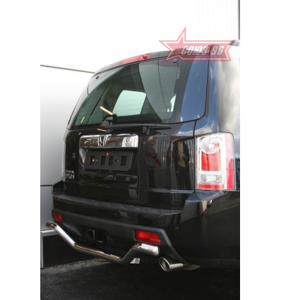 "Защита заднего бампера ""волна"" на Honda Pilot HPIL.75.0724"