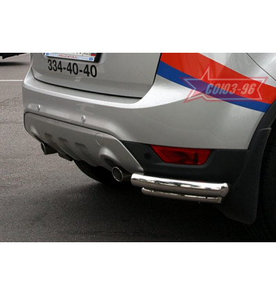 """Защита задняя """"уголки"""" на Ford Kuga FKUG.76.0678"""