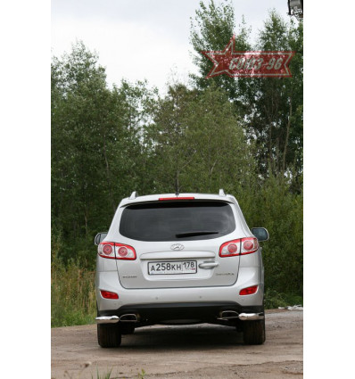 "Защита заднего ""уголки""  на Hyundai Santa Fe HYSF.76.1154"