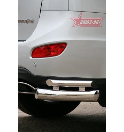 "Защита заднего ""уголки""  на Hyundai Santa Fe HYSF.76.1155"