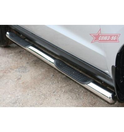 Пороги с простопью на Hyundai Santa Fe HYSF.81.1150