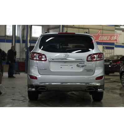 Защита задняя на Hyundai Santa Fe HYSF.75.1433