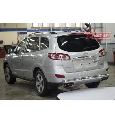 Защита задняя на Hyundai Santa Fe HYSF.75.1434