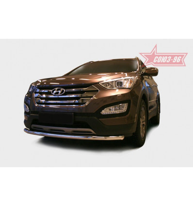 Защита переднего бампера на Hyundai Santa Fe HYSF.48.1615