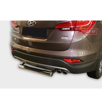 "Защита задняя ""ступень"" на Hyundai Santa Fe HYSF.77.1631"