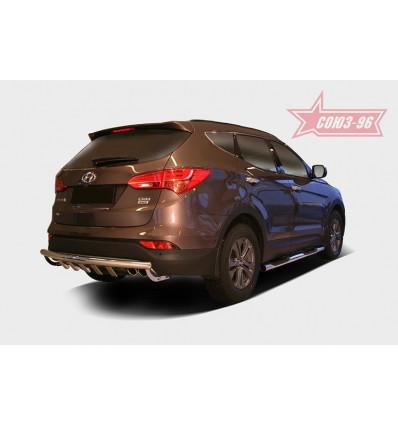 "Защита задняя ""ступень"" на Hyundai Santa Fe HYSF.79.1630"
