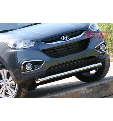 "Защита переднего бампера ""волна"" на Hyundai ix35 HYIX.48.1060"