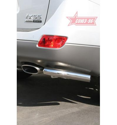 """Защита задняя """"уголки"""" на Hyundai ix55 HYIX.76.0903"""
