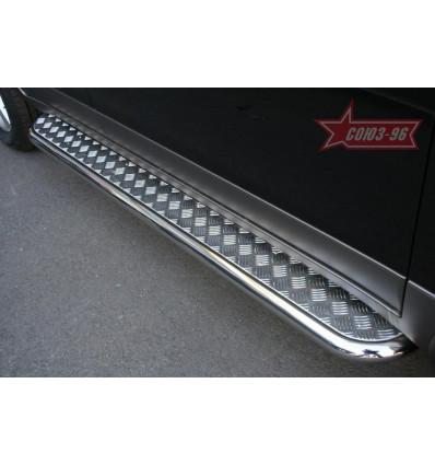 Пороги с листом на Hyundai ix55 HYIX.82.0900