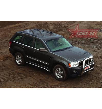 Решетка передняя мини на Jeep Grand Cherokee JEEP.55.0281