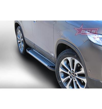 Пороги алюминиевый профиль на Kia Sorento KSOR.83.5062