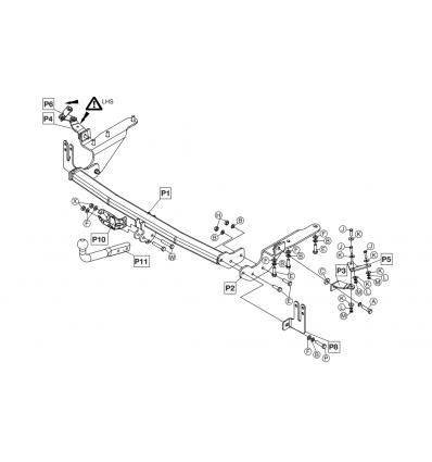 Фаркоп на Toyota RAV 4 475300