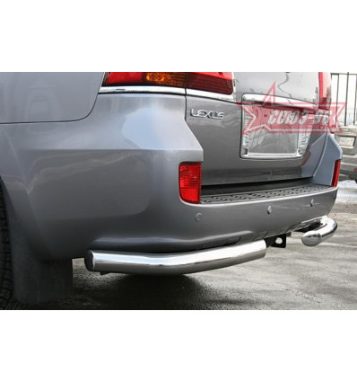 """Защита задняя """"уголки"""" на Lexus LX 570 LX57.76.0631"""