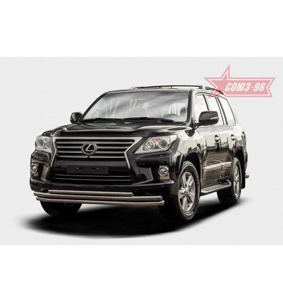 Защита переднего бампера на Lexus LX 570 LX57.48.1472