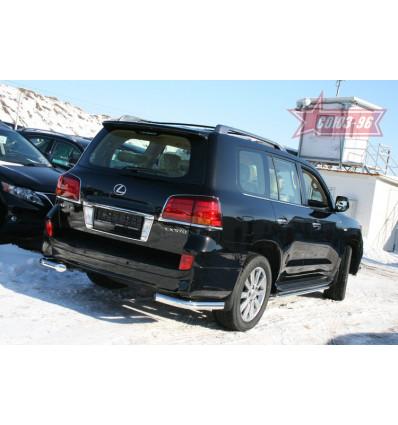 """Защита задняя """"уголки"""" на Lexus LX 570 LX57.76.1231"""