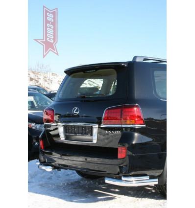 """Защита задняя """"уголки"""" на Lexus LX 570 LX57.76.1232"""