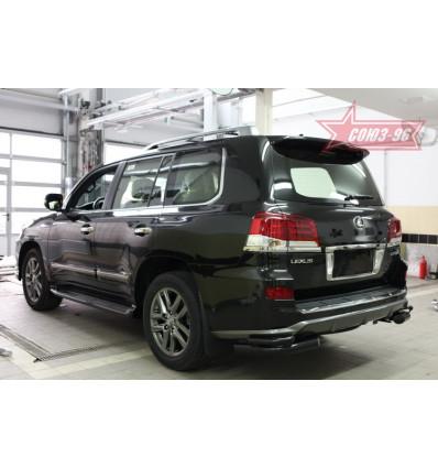 """Защита задняя """"уголки"""" на Lexus LX 570 LX57.76.5019"""