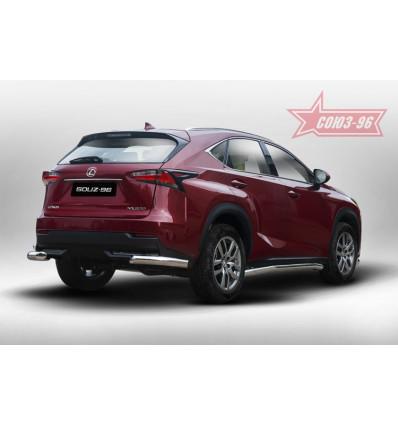 """Защита задняя """"уголки"""" на Lexus NX LENX.76.5170"""