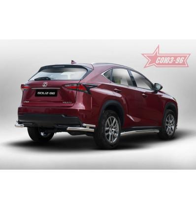 """Защита задняя """"уголки"""" на Lexus NX LENX.76.5171"""