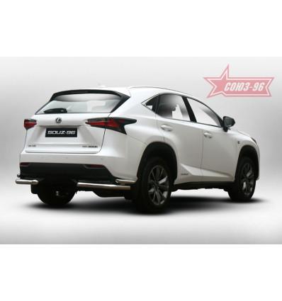 """Защита задняя """"уголки"""" на Lexus NX LENX.76.5188"""