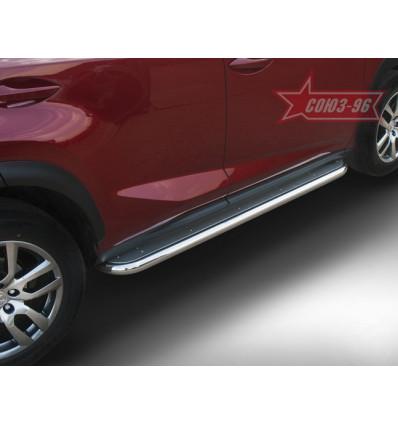 Пороги с листом на Lexus NX LENX.82.5163