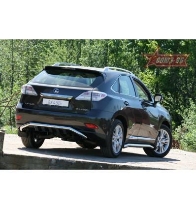 """Защита задняя """"волна"""" на Lexus RX III 350/450H LXRX.75.1104"""