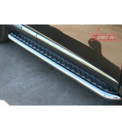Пороги с алюминиевым листом на Lexus RX III 350/450H LXRX.82.1099