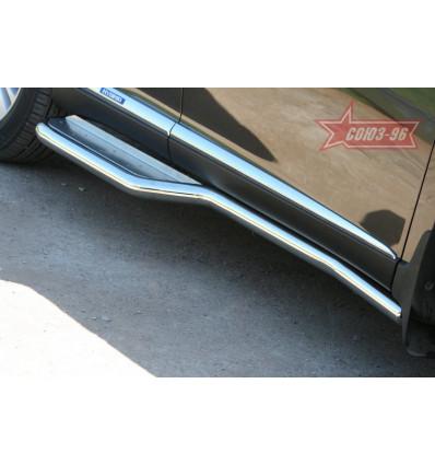 Пороги с нержавеющим листом на Lexus RX III 350/450H LXRX.82.1101