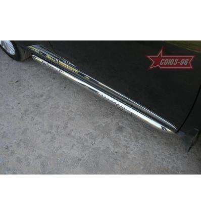Пороги труба на Lexus RX III 350/450H LXRX.84.1098