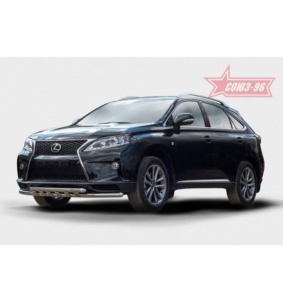 Защита переднего бампера на Lexus RX III 270/350/450H LERX.45.1496