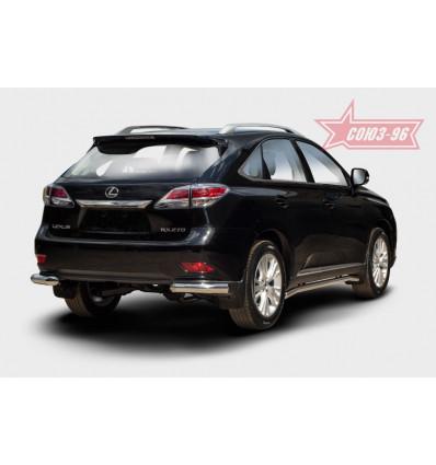 """Защита задняя """"уголки"""" на Lexus RX III 270/350/450H LERX.76.1500"""